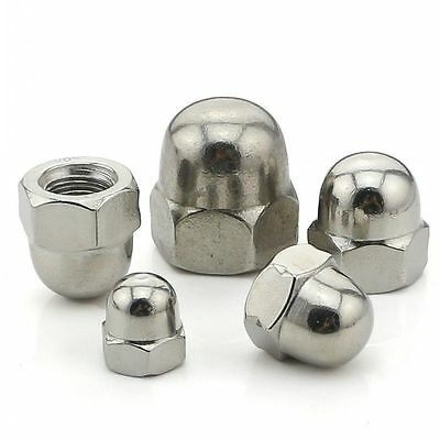 M3 M4 M5 M6 M8 M10 M12-M20 Acorn Hex Cap Nuts 304 A2 Stainless Steel Dome Nuts
