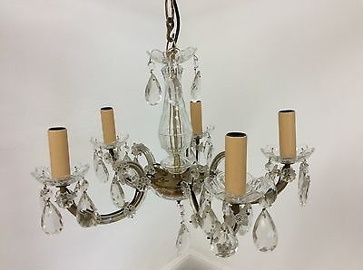Vintage Antique Style Cut Glass Chandelier