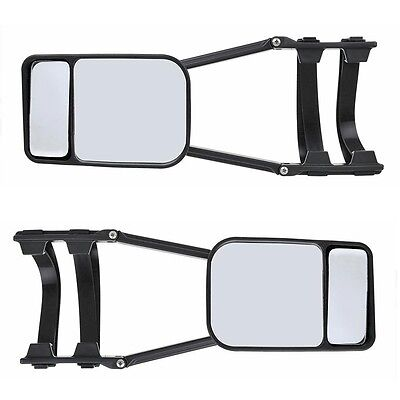 (2045) 2x towing mirrors Caravan with Wide angle Universal Additional