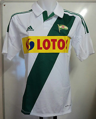 Lechia Gdansk 2012/13 S/s Home Shirt By Adidas Adults Size Small Brand New