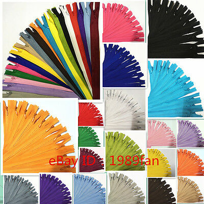 Colorful Nylon 3# Invisible Zippers (12-20 inch ) Tailor  Sewing Craft 20/Color