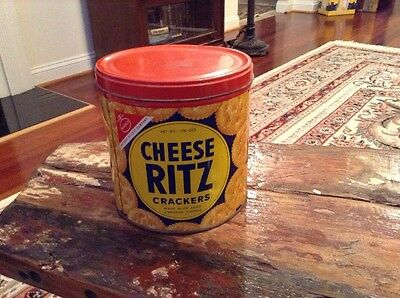 Vintage Nabisco National Biscuit Company Cheese Ritz Crackers Tin Advertising