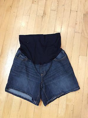Liz Lange Maternity Jeans Shorts M Medium Full Panel
