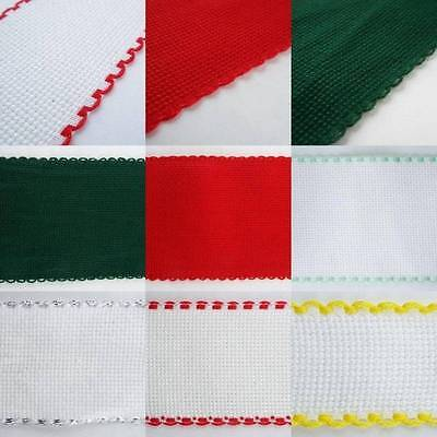 Scallop Edge Aida Band Cross Stitch 30 50 75 100mm Wide Bookmark 25 50cm 1m 2m