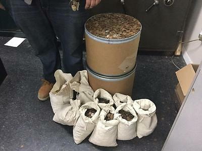1100 Wheat Pennies from the 20's,30's,40's,& 50's (we think?) from old hoard