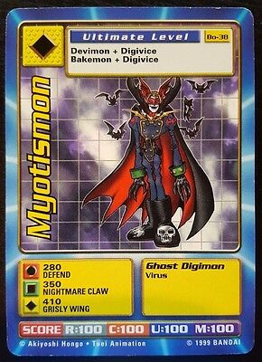 MYOTISMON - Bo-38 Ultimate Level Digimon card - NM
