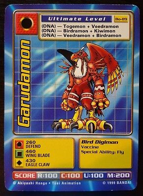 GARUDAMON - Bo-89 Ultimate Level Digimon card - NM