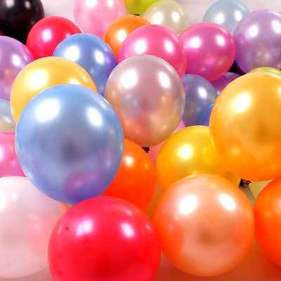 "50 Latex Pearl Ballons 10"" Inch Helium Air Party Weddings Christening Balloons"