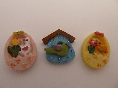 Dolls House Miniature 1:12th Scale Nursery Toys Resin Bird Plaques (4786)