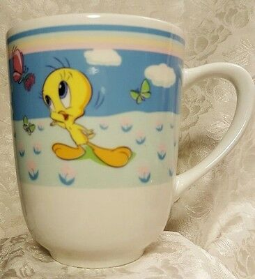 Collectible Looney Tunes Tweety Bird & Butterflies Coffee Cup Mug by Gibson
