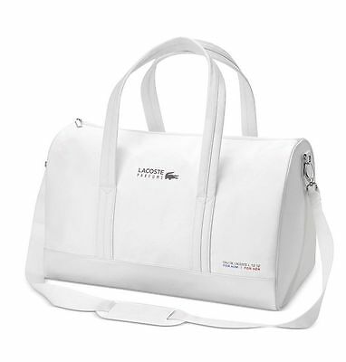 Lacoste Parfums white Duffle Sports Gym school shoulder travel hand bag New