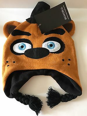 Official Fnaf Five Nights At Freddy's Boys Girls Knit Winter Hat Bear New Nwt