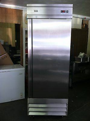 Summit Upright Freezer Commercial Stainless Single Door Frost Free # Scff235