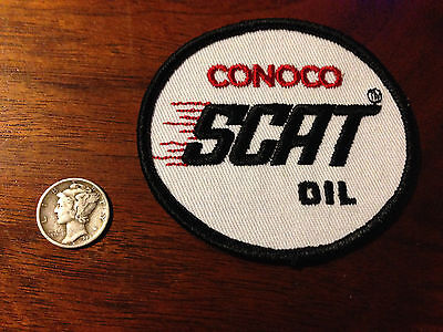 Vintage Conoco SCAT Oil Racing 2 Cycle  Jacket Shirt Advertising Patch