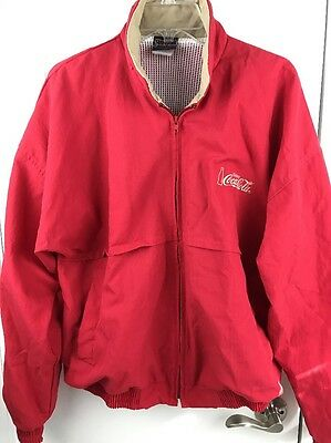 Vintage COKE Enjoy Coca Cola Womens RED Delivery Driver Uniform Jacket Size L