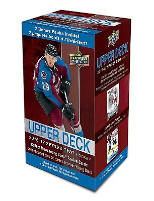 2016-17 Upper Deck Series 2 NHL hockey cards 12-pack Blaster Box