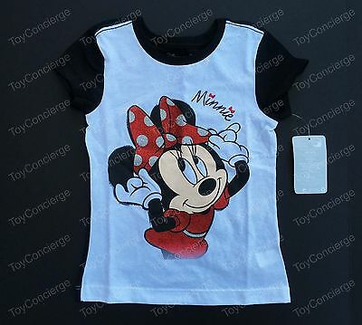 Disney Authentic Minnie Mouse Americana Icon T Shirt Tee for Girls Size 5//6 7//8