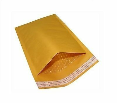 100 #0 6.5x10 Kraft Bubble Mailers Self-Sealing Shipping Envelopes Mailing Bags