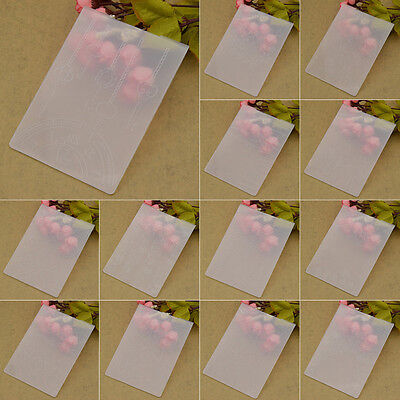 Transparent Embossing Folder Plastic Template DIY Scrapbook Album Paper Craft