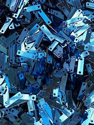 Sequins Tiny Rectangle 9mm Royal True Blue Metallic 1/3 inch Choose Pack Size