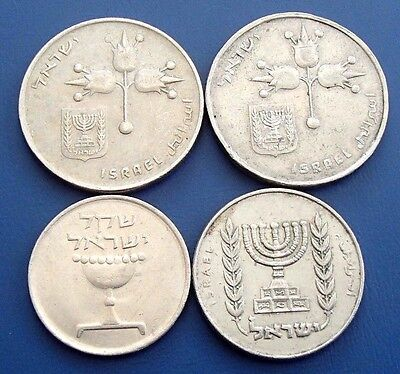 Israel x 4 Collectable Mixed Coins - 160a