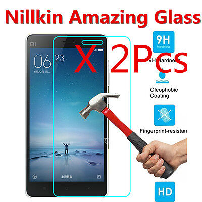 2Pcs New Premium Real Tempered Glass Screen Protector Saver Nillkin For Xiaomi