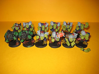 Games Workshop - Blood Bowl - 12x Orks aus Plastik - Umbauten