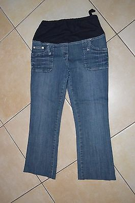 STEREO MAMAN =  Jeans grossesse bleu taille 38 LAU taille réglable