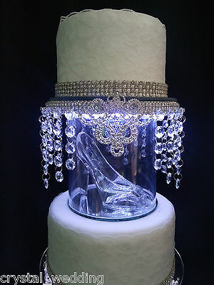 Cinderella inspired  Glass slipper wedding cake separator topper