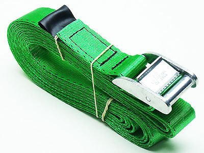 1 unit of 5m x 25mm Cam Buckle GREEN Tie Down Lashing 400kg; Cargo Straps