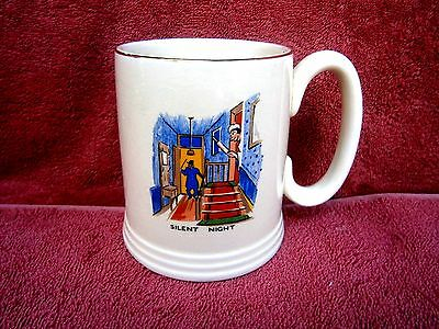 "Vintage  Lord  Nelson Ware  England  ""silent Night""  China  Mug"