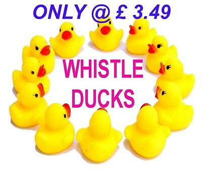 10 X Mini Yellow Bath Time Bath Rubber Ducks Toy Water Play Party Bag Filler