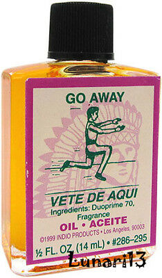 Go Away, Alejamiento, Oil, Indio Products, 1/2 oz, Lunari13, Santeria, Brujeria