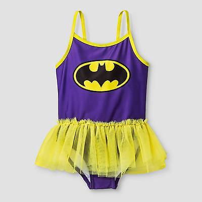 Toddler Girls' Batgirl One Piece Swimsuit - Purple