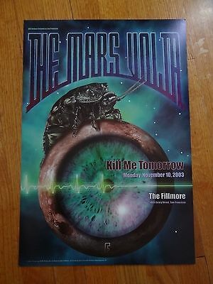 The Mars Volta Concert Poster Fillmore Original Bill Graham Limited Edition Rar