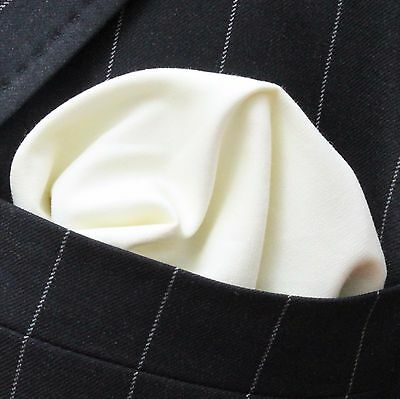 Hankie Pocket Square Handkerchief Cream - Premium Cotton - UK Made