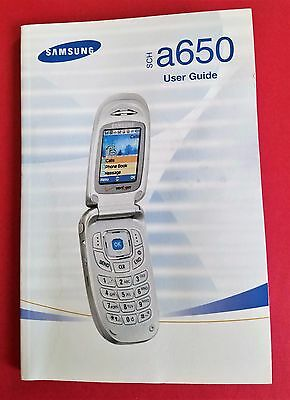 Samsung SCH-a650 User Guide Manual - Free Shipping