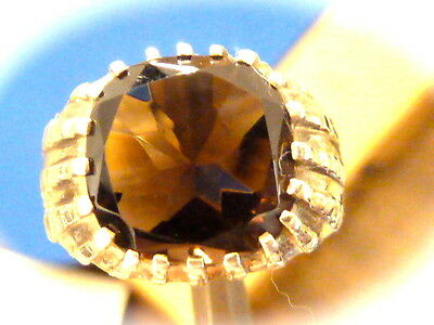 Men's sterling silver smokey quartz ring new old found jewelry stock size 9.25