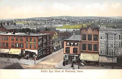 PORTLAND, CT ~ TOWN BIRD'S EYE VIEW ~ CHAPIN NEWS CO., PUB. ~ c. 1906