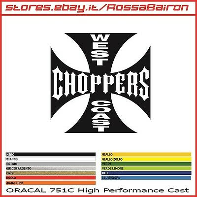 1 ADESIVO WEST COAST CHOPPERS HARLEY mm.70x70 STICKERS AUFKLEBER PEGATINAS DECAL