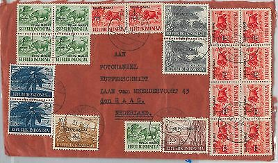 62341 - INDONESIA - POSTAL HISTORY - IRIAN BARAT stamps on COVER to HOLLAND 1964