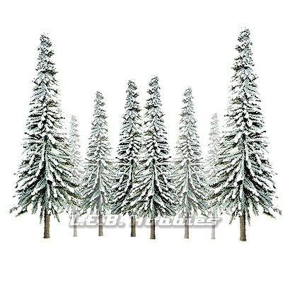 "JTT Scenery Products Snow Spruce Tree O-Scale 6"" - 10"" Super Scenic, 12/pk 92008"