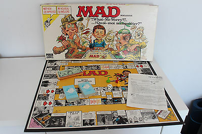 MAD MAGAZINE What-Me Worry? BOARD GAME ** 1979 Parker Brothers FRENCH / ENGLISH