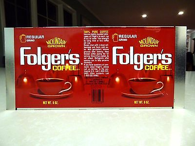 Vintage Folger's Coffee Can Unrolled Flat Mint 8 oz.