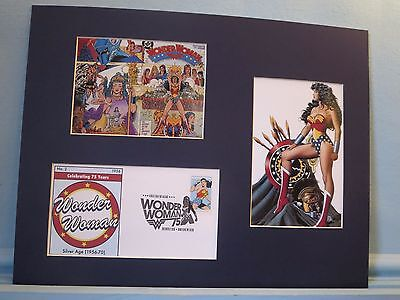 DC Comic Book heroine Wonder Woman & First Day Cover of her own stamp