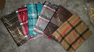 6 Assorted Men's Scarves Blue Brown Gray Tan Wholesale Lot