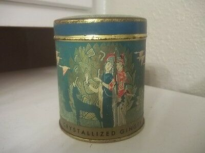 Vintage Advertising  Canister Ming's Crystallized Ginger Tin Estate Find