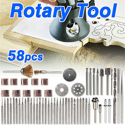 Hot 58pcs Rotary Tool Accessory Set-Fits Dremel - Grinding, Sanding, Polishing