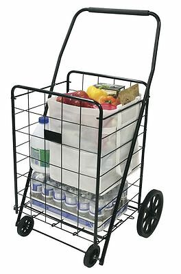 Shopping Carts With Wheels For Seniors Grocery Laundry Portable Folding - Black