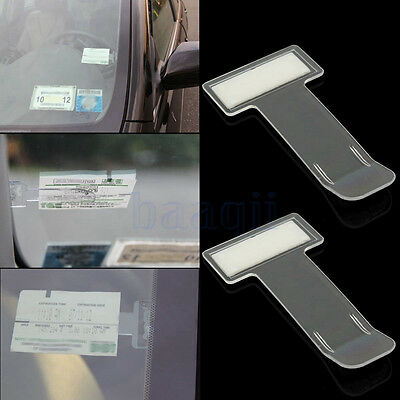 5 Voiture Auto Clip Porte Carte Billet Ticket Pince Pare-brise Holder Support BA